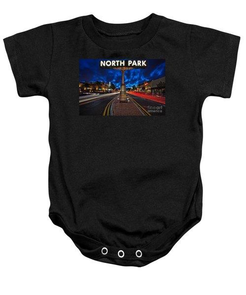 North Park Neon Sign San Diego California Baby Onesie