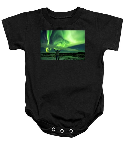 Northern Light In Western Iceland Baby Onesie