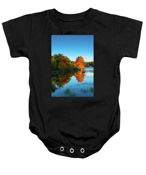 Northwood Lake Autumn Baby Onesie