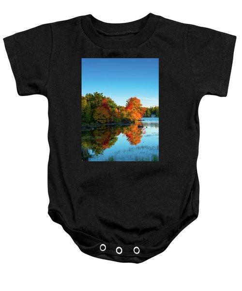 Northwood Lake Autumn Baby Onesie