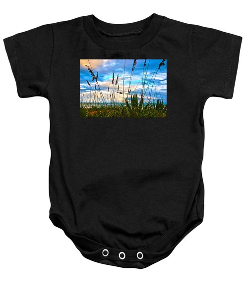 November Day At The Beach In Florida Baby Onesie