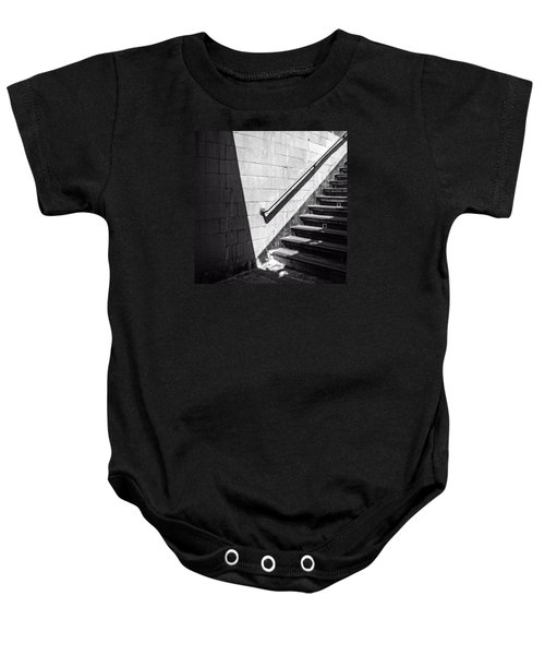 Ny Subway Stairs Baby Onesie