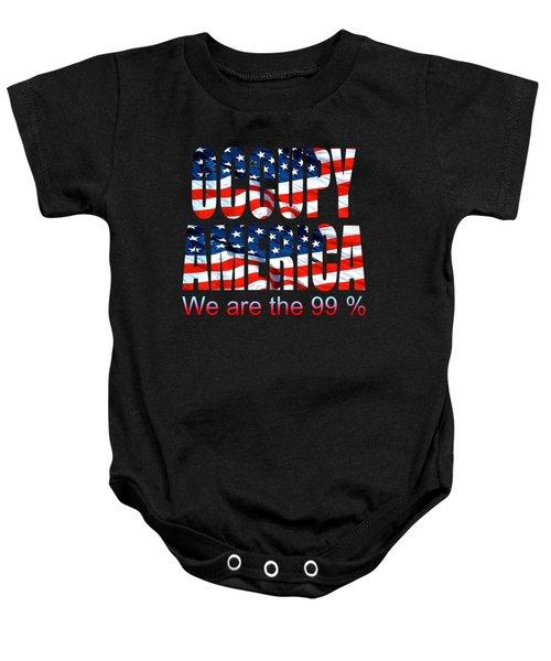Occupy America 99 Percent Design Baby Onesie