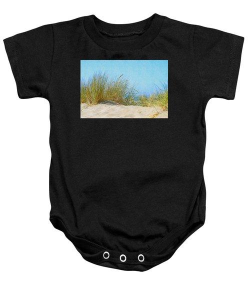 Ocean Beach Dunes Baby Onesie