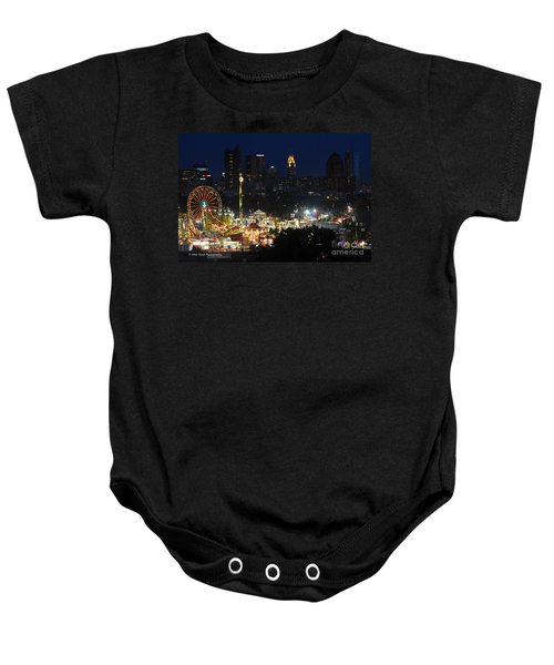 D3l-464 Ohio State Fair With Columbus Skyline Baby Onesie