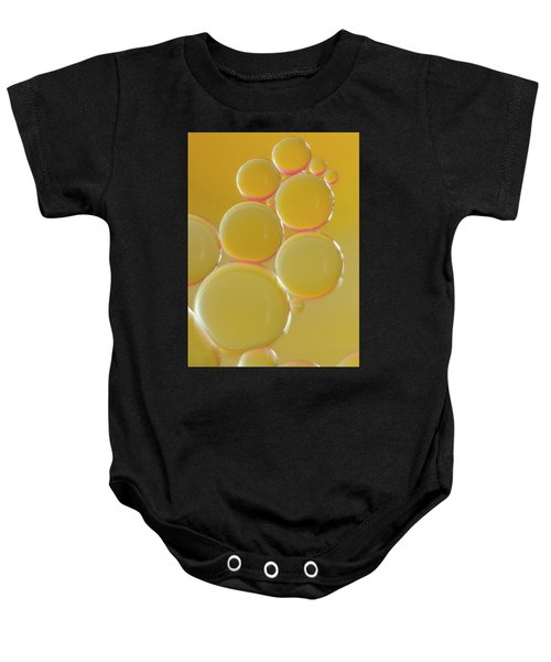 Oil Bubbles On Water Abstract Baby Onesie