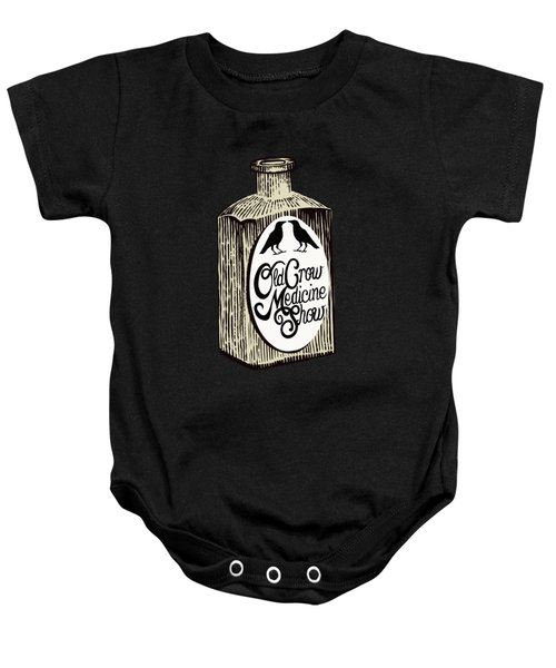 Old Crow Medicine Show Tonic Baby Onesie by Little Bunny Sunshine