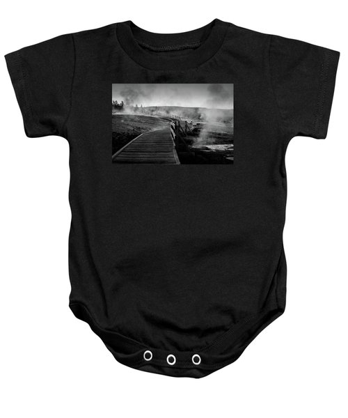 Old Faithful Boardwalk Baby Onesie