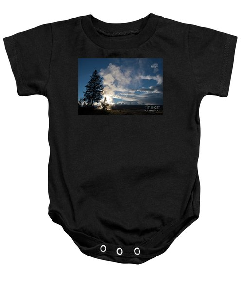 Old Faithfull At Sunset Baby Onesie