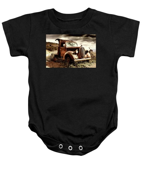 Old Ford Truck In Desert Baby Onesie