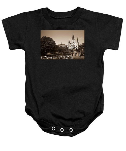 Old New Orleans Photo - Saint Louis Cathedral Baby Onesie