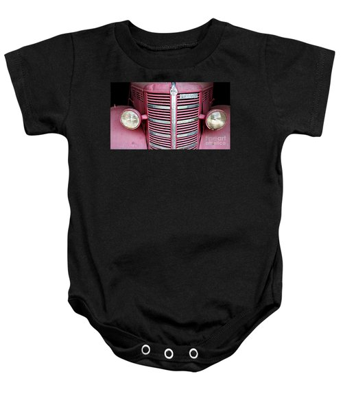 Baby Onesie featuring the photograph Old Red by Stephen Mitchell