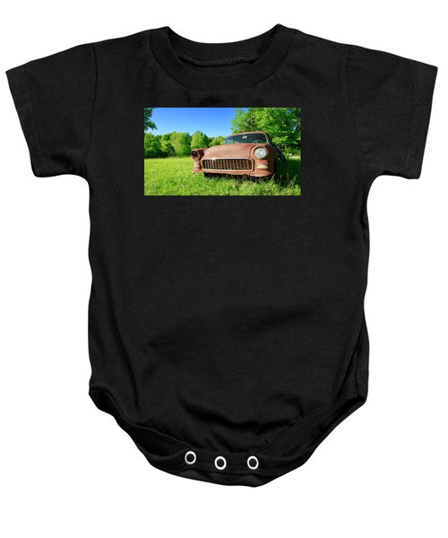 Old Rusty Car Baby Onesie