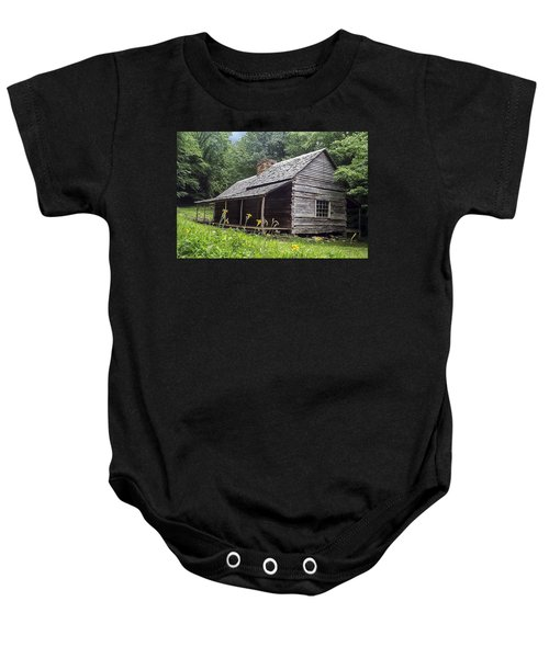 Old Settlers Cabin Smoky Mountains National Park Baby Onesie
