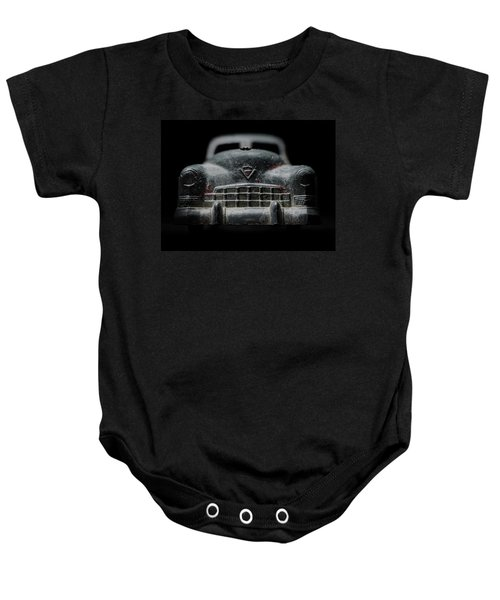 Old Silver Cadillac Toy Car With Specks Of Red Paint Baby Onesie