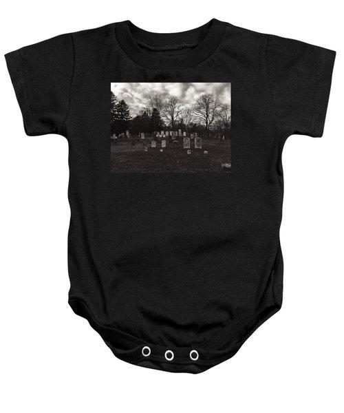 Old Town Cemetery , Sandwich Massachusetts  Baby Onesie