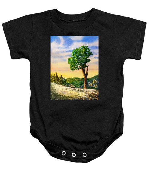 Olmsted Point Tree Baby Onesie