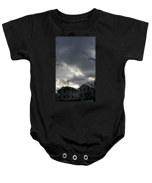 Ominous Clouds Baby Onesie