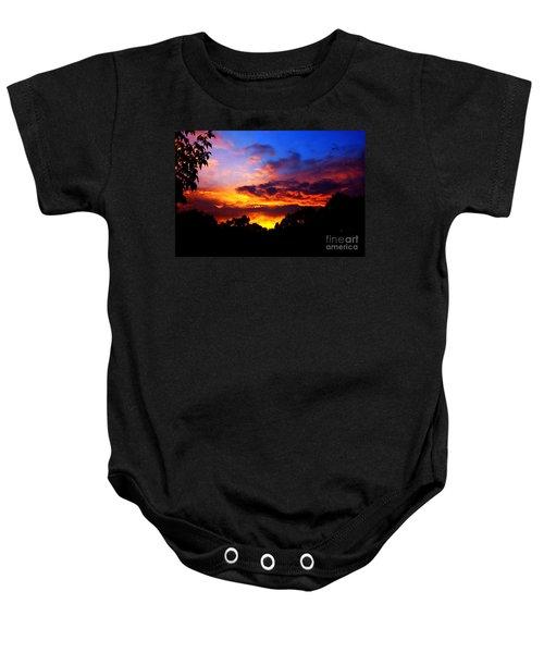 Ominous Sunset Baby Onesie