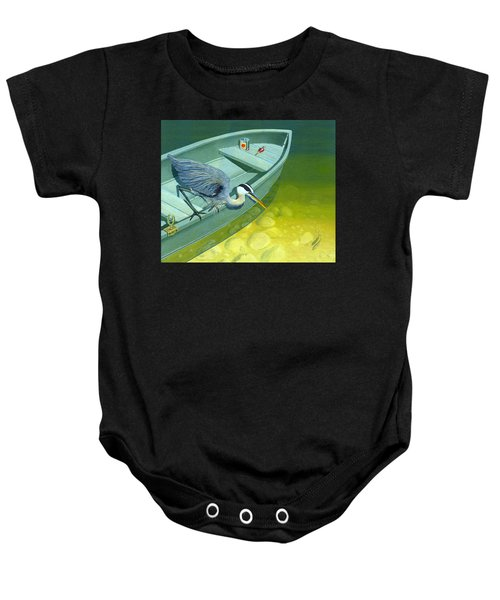 Opportunity-the Great Blue Heron Baby Onesie