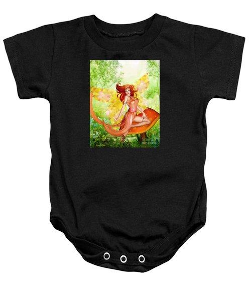 Orange Fairy Baby Onesie