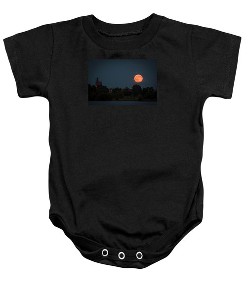 Orange Moon Baby Onesie