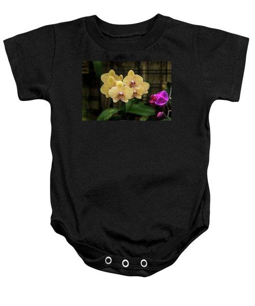 Orange Orchids Baby Onesie