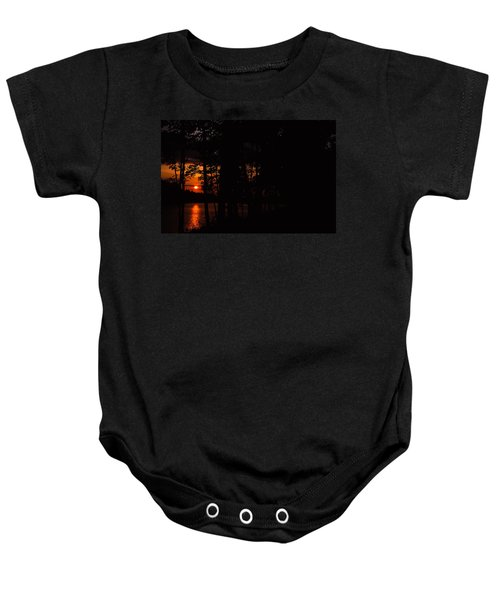 Orange Sunset Baby Onesie