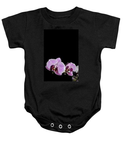 Orchid Blooms Baby Onesie