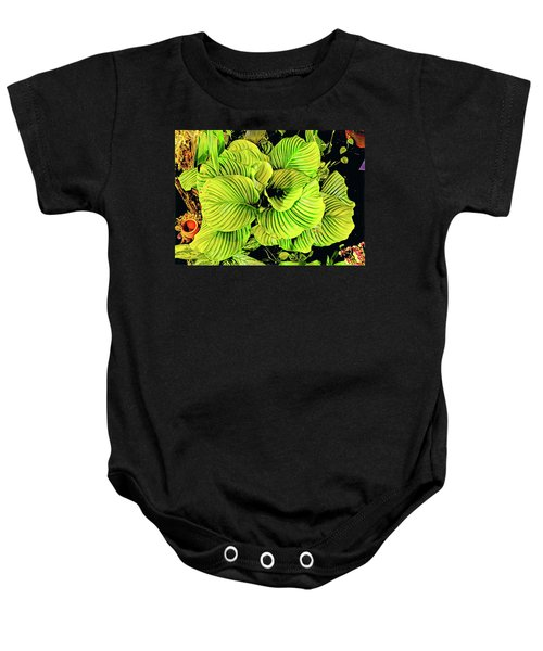 Orchid Green Fade Aloha  Baby Onesie