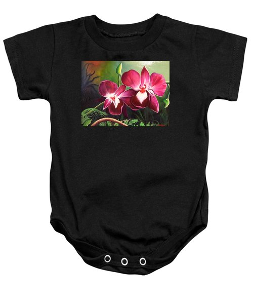 Orchids In The Night Baby Onesie