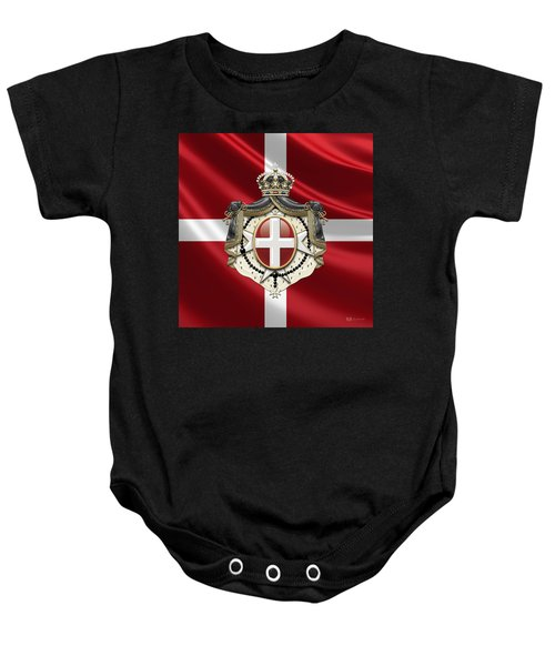 Order Of Malta Coat Of Arms Over Flag Baby Onesie