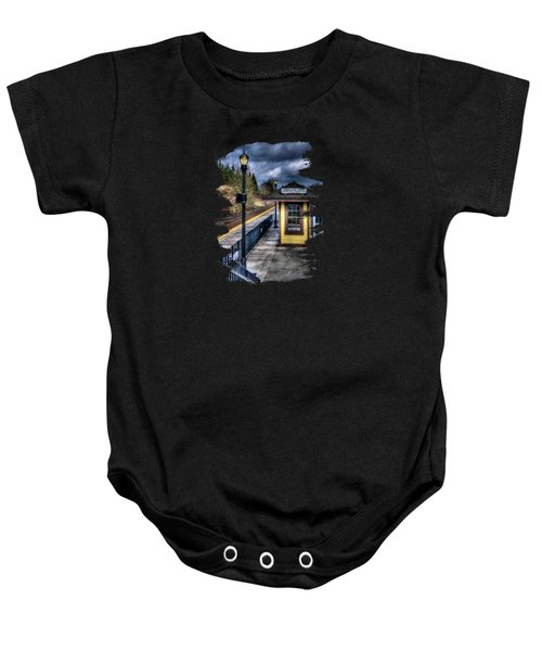 Oregon City Train Depot Baby Onesie by Thom Zehrfeld