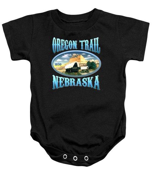 Oregon Trail Nebraska History Design Baby Onesie
