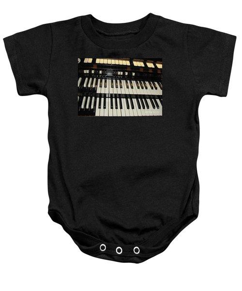 Hammond Organ Keys Baby Onesie