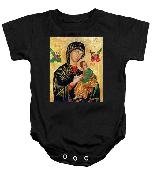 Our Lady Of Perpetual Help Icon Baby Onesie