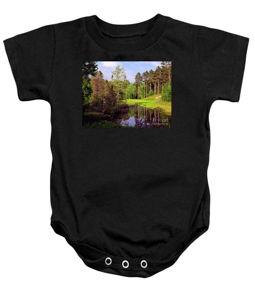Over The Pond Baby Onesie