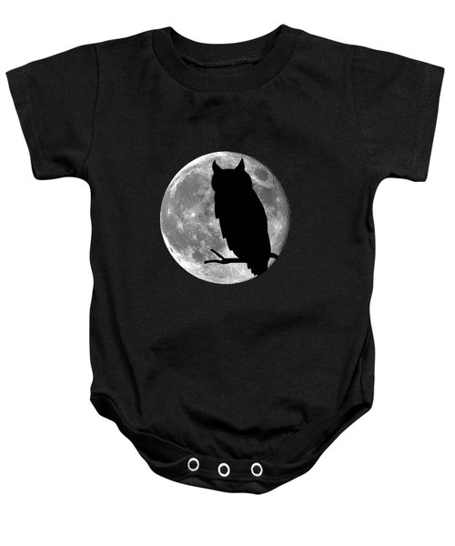 Owl Moon .png Baby Onesie
