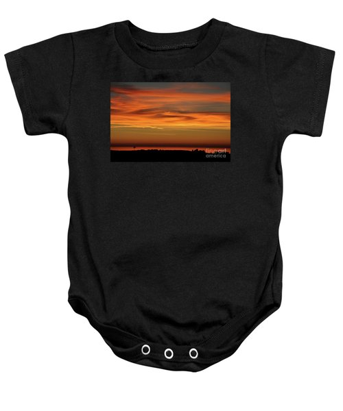Pacific Ocean Sunset Baby Onesie