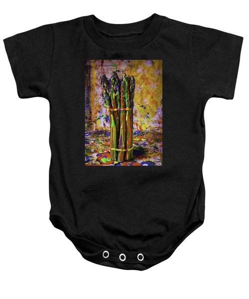 Painted Asparagus Baby Onesie