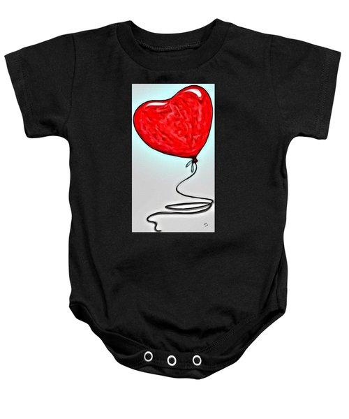 Painted Heart Baby Onesie