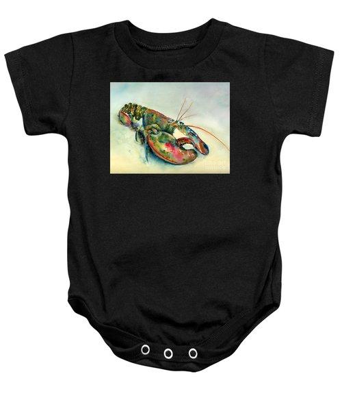 Painted Lobster Baby Onesie