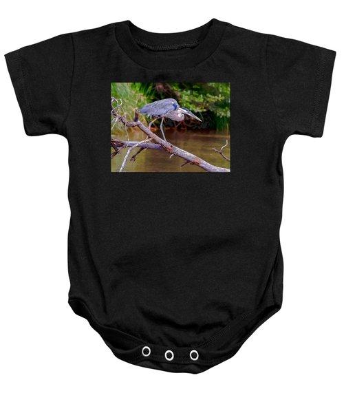Painting Blue Heron Oak Creek Baby Onesie