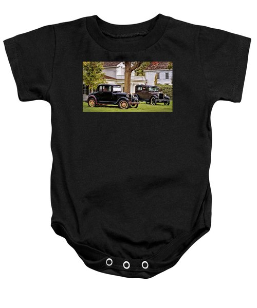 Pair Of Ford Model A  Baby Onesie
