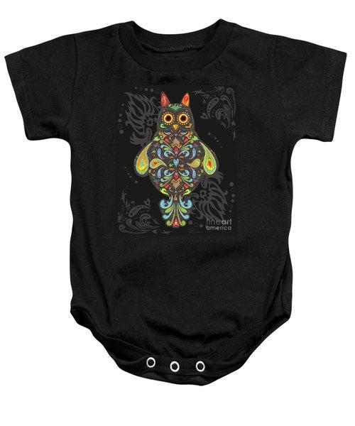 Paisley Owl Baby Onesie