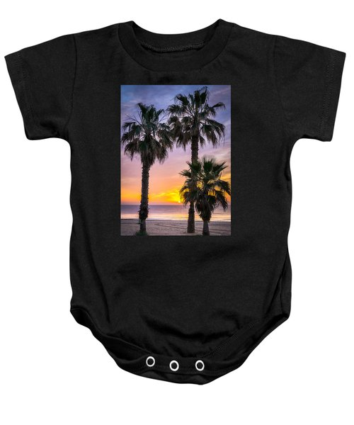 Palm Tree Sunrise. Baby Onesie