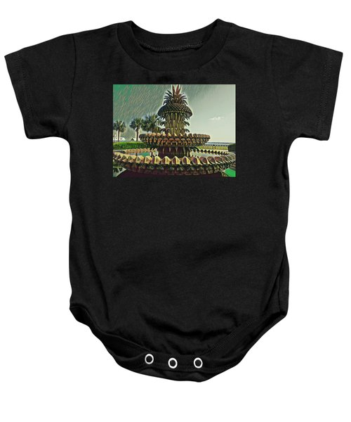 Palms And Pineapples Baby Onesie