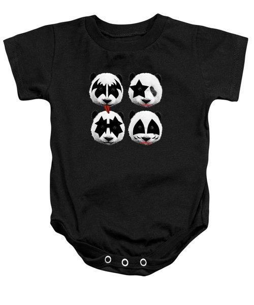 Panda Kiss  Baby Onesie