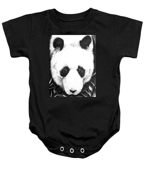 Panda Portrait Baby Onesie