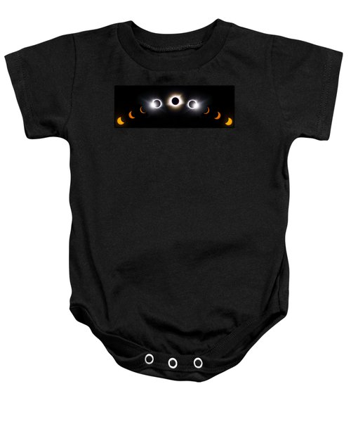 Panorama Total Eclipse T Shirt Art Phases  Baby Onesie